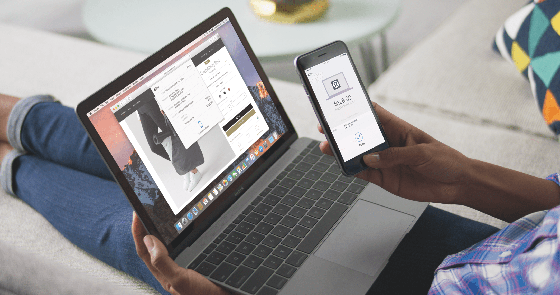 Paying on a Mac using TouchID on an iPhone