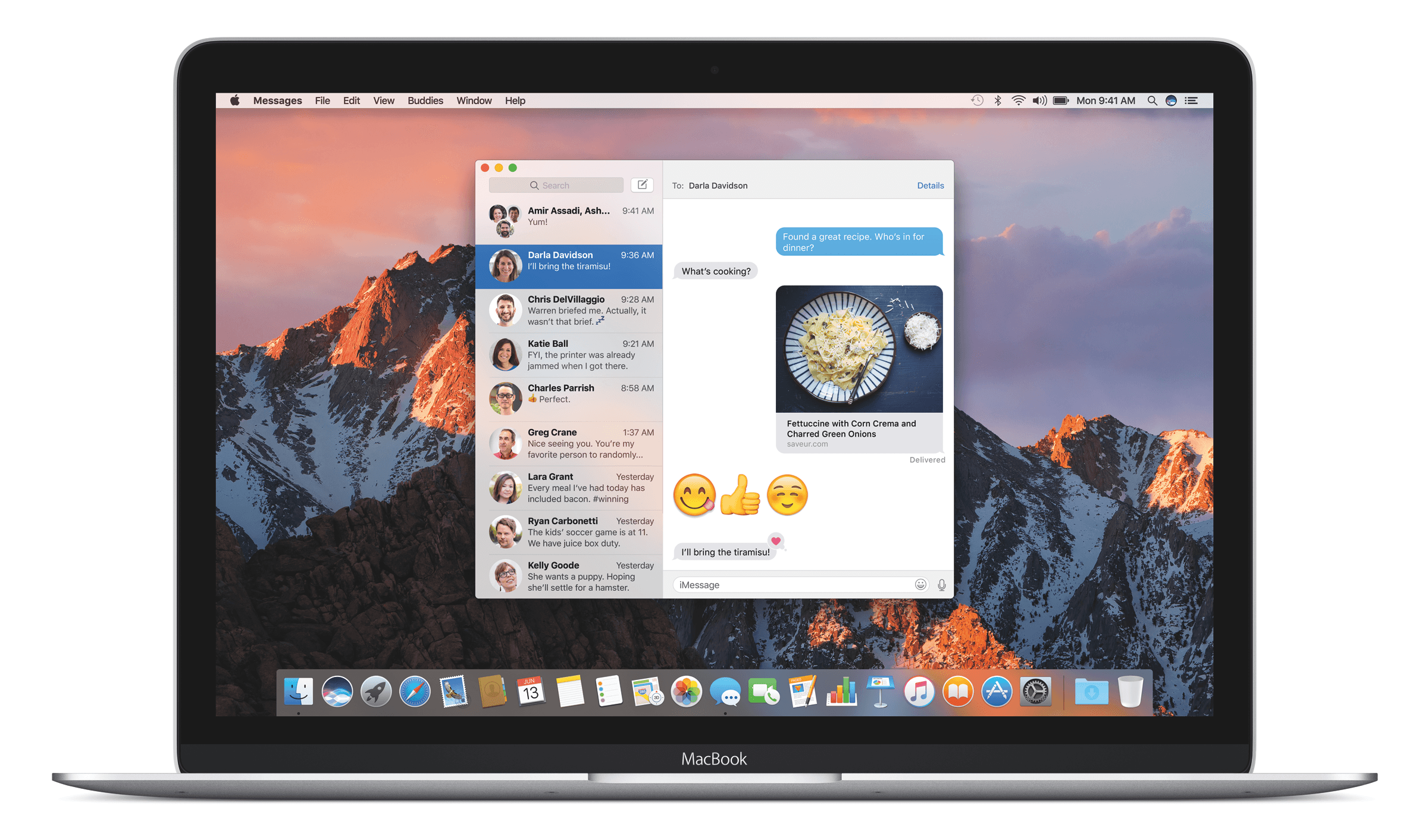 The new Messages app in macOS Sierra