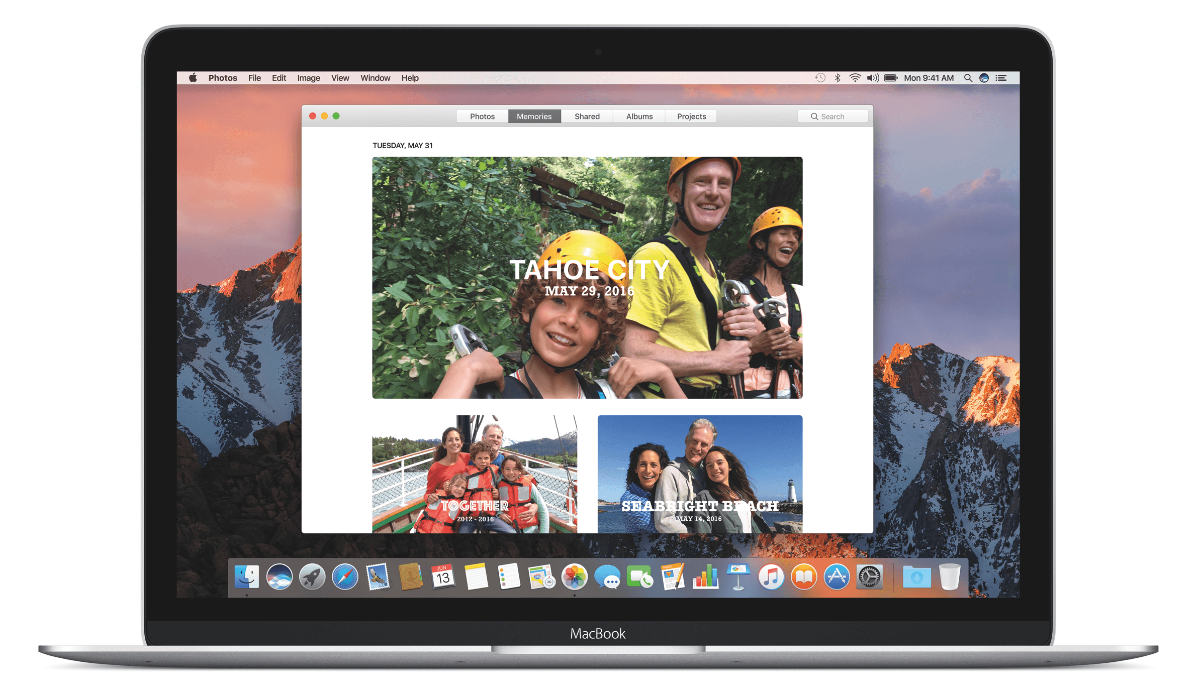 The new Memories interface on Photos for macOS