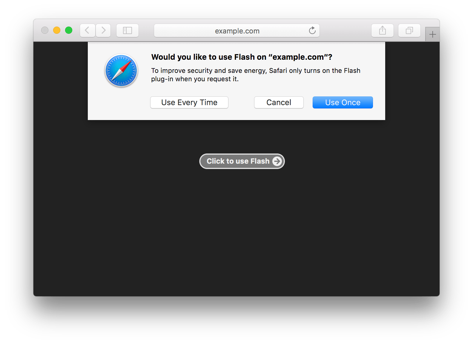 Safari 10 to turn off Flash by default
